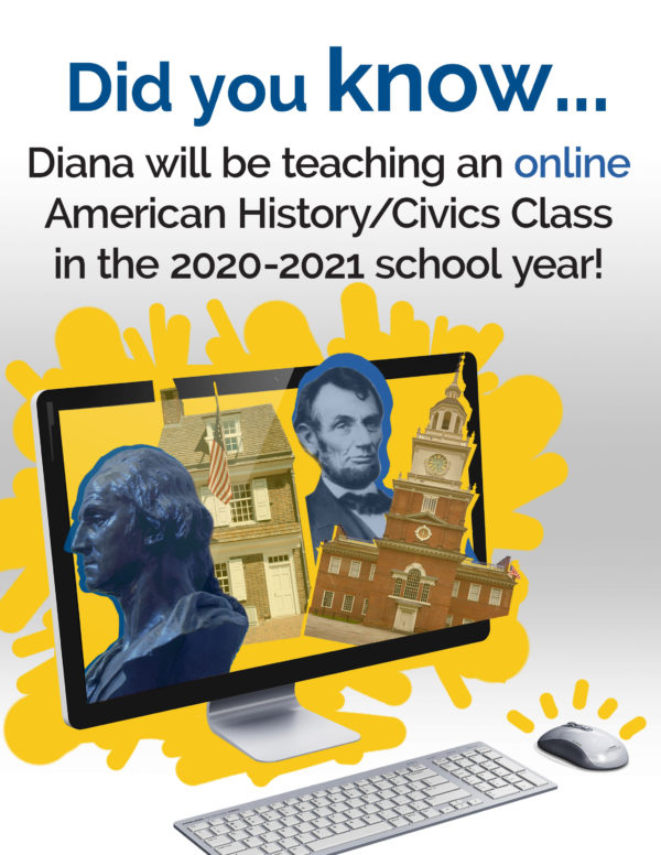 New! Diana Waring is teaching American History Online