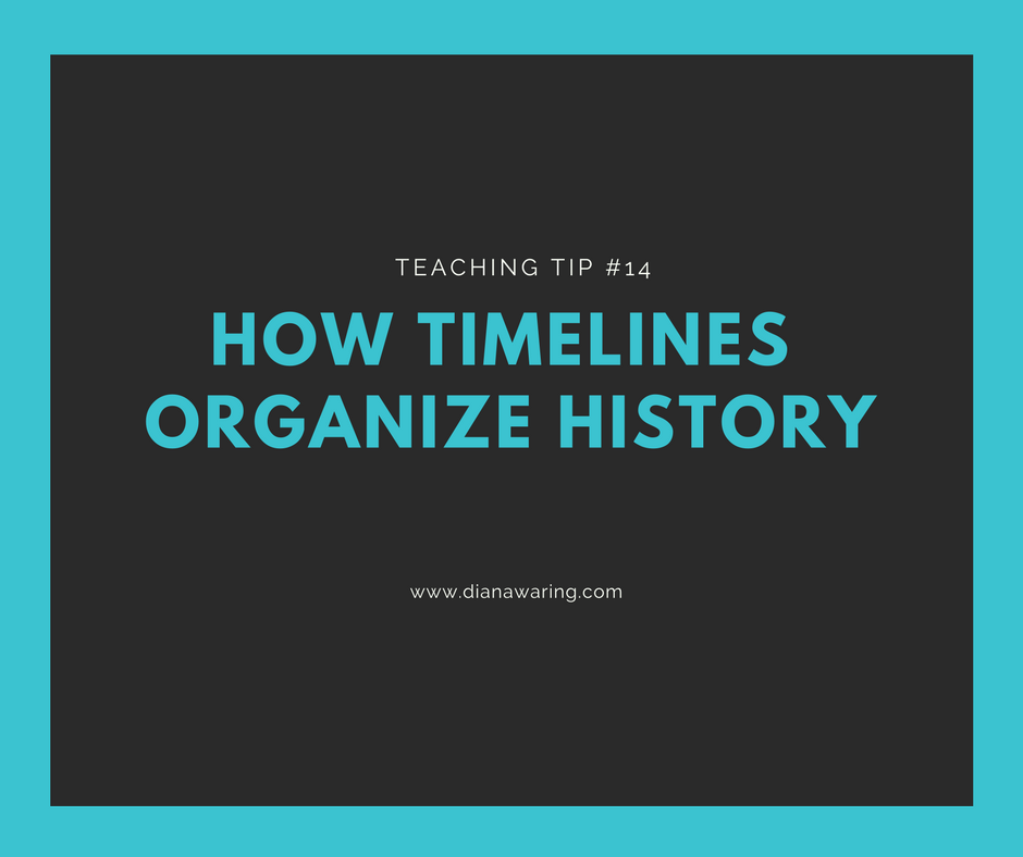 Teaching Tip 14—How Timelines Organize History!