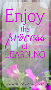 Enjoy the process of learning
